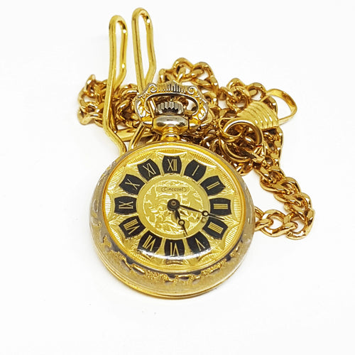 Vintage Cincaset Pocket Watch | Gold-tone Tiny Medallion Watch - Vintage Radar