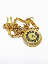 Load image into Gallery viewer, Vintage Cincaset Pocket Watch | Gold-tone Tiny Medallion Watch - Vintage Radar