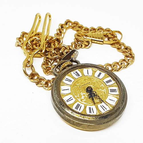 Vintage Endura Swiss Pocket Watch | Gold-tone Vintage Pendant - Vintage Radar