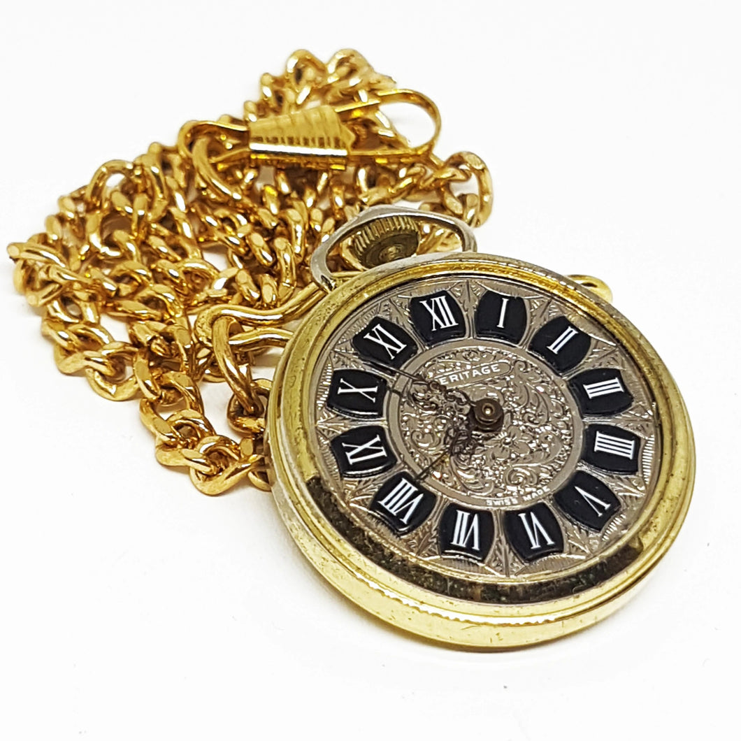 Heritage Swiss-made Pocket Watch | Gold-tone Vintage Pendant - Vintage Radar