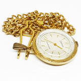 Vantage by Hamilton Shockresistant Pocket Watch  | Gold-tone Vintage Pendant - Vintage Radar