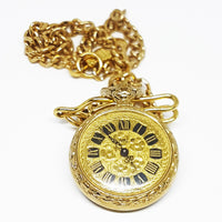 Vintage Kiple Pocket Watch  | Gold-tone Vintage Pendant - Vintage Radar