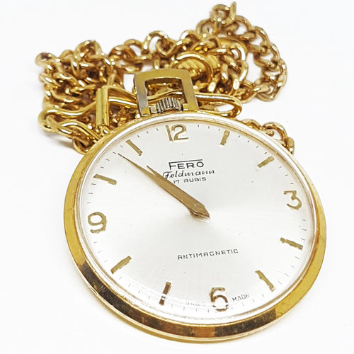 Fero Feldmann 17 Rubis Pocket Watch | Can Be Engraved - Vintage Radar