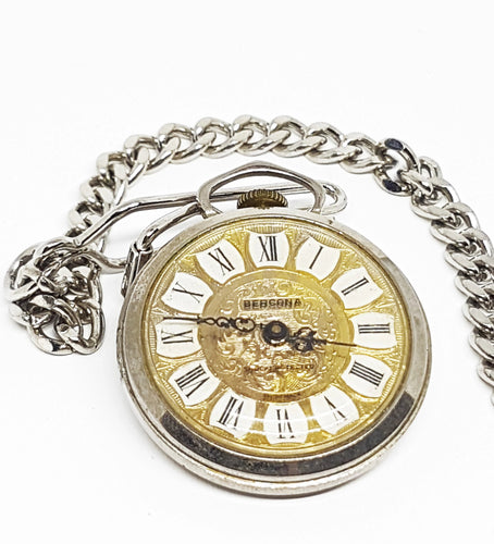 Bercona Swiss Mechanical Pocket Watch | Gold Luxury Vintage Pendant Watch - Vintage Radar