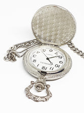 Load image into Gallery viewer, Silver Quartz Fisherman Pocket Watch | Personalized Pocket Watch Gift - Vintage Radar
