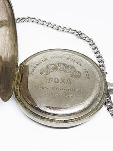 DOXA Vintage Swiss Pocket Watch | 100 Years Old Silver Pocket Watch - Vintage Radar