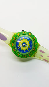 1996 REEF SDL900 Swatch Scuba Watch | Mens 90s Swiss Diver Glow Watch - Vintage Radar
