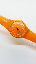 Load image into Gallery viewer, 2009 Orange FRESH PAPAYA GO105 Swatch Watch | Orange Swiss Watch - Vintage Radar