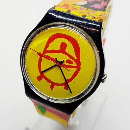 1999 AFRICAN BBQ GN179 Swiss Swatch Watch | 90s Swiss Minimal Design Watch - Vintage Radar