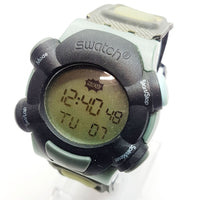 STILL WORKING SQZ103 Digital Beat Swatch Watch | 1999 Digital Swatch Watch - Vintage Radar