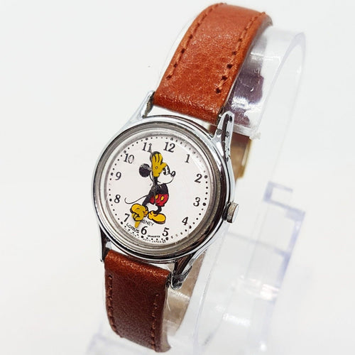 Rare Lorus v515 6080 A1 Mickey Mouse Watch Classic White Dial Disney Watch