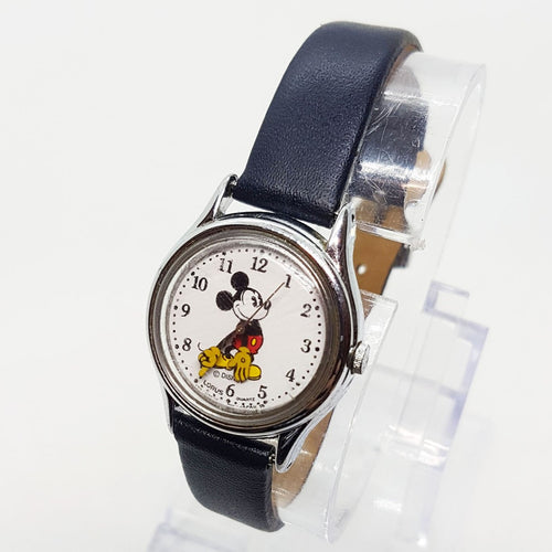 1990s Lorus by Seiko v515 6128 Mickey Mouse Watch for Men and Women