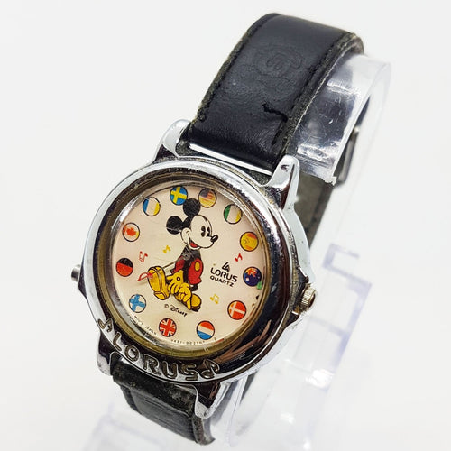 Musical Lorus Mickey Mouse V421-0021 NT 2 Watch, World Flags Lorus Watch