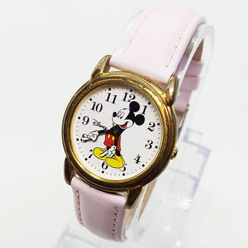 SII Marketing RRS58AX Mickey Mouse Watch Pink Leather Watch Strap