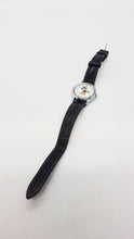 Load image into Gallery viewer, Black Leather Mickey Mouse Lorus Vintage Watch for Men and Women