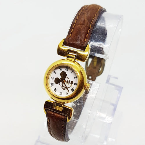 Ultra Thin Small Gold Mickey Mouse Watch | Disney Time Works Watch Limited Edition: 85/8092