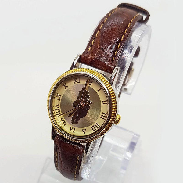 Two Tone Seiko Winnie The Pooh Disney Watch Elegant Dress Watch
