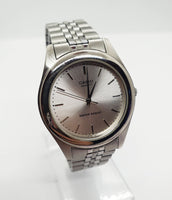 Casio MTP1129 Stainless Steel Silver-tone Watch for Men and Women - Vintage Radar