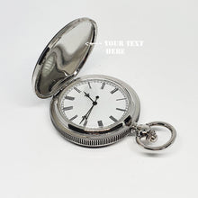 Load image into Gallery viewer, Silver-tone Baby Angel Pocket Watch | Engraved Gift Pocket Watch