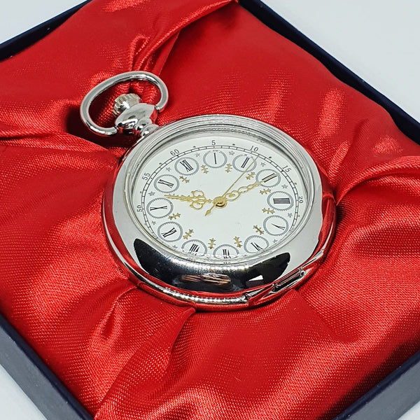 Vintage-Style Silver-tone Pocket Watch | Engraved Pocket Watch