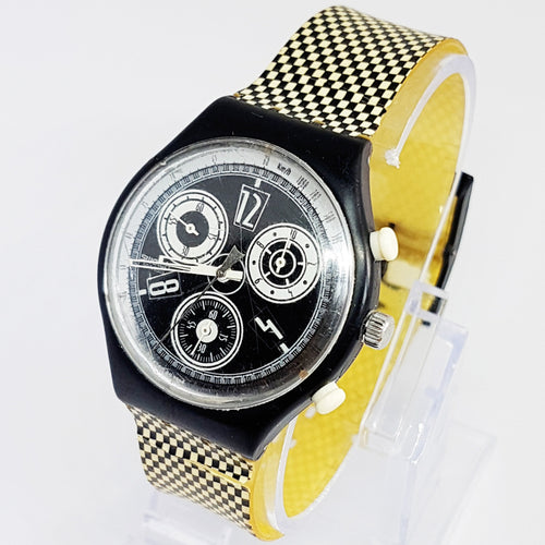 CHESS SCB116 Vintage Swatch Watch | Swiss Chronograph Watch - Vintage Radar