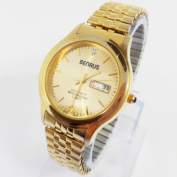 Gold-tone Benrus Watch for Men and Women | Luxury Benrus Watch - Vintage Radar