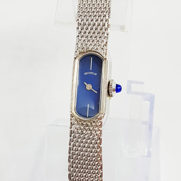 RARE 1960s Mechanical Ladies Benrus Watch | Art Deco Blue Dial Watch - Vintage Radar