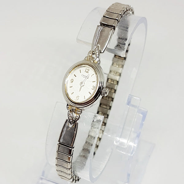 Tiny Silver-tone Caravelle Ladies Watch | 90s Delicate Bulova Women's Watch - Vintage Radar