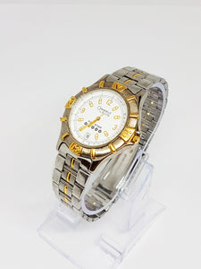 Silver Men's Bulova Five Star Watch | Two-tone Caravelle Watch for Men - Vintage Radar