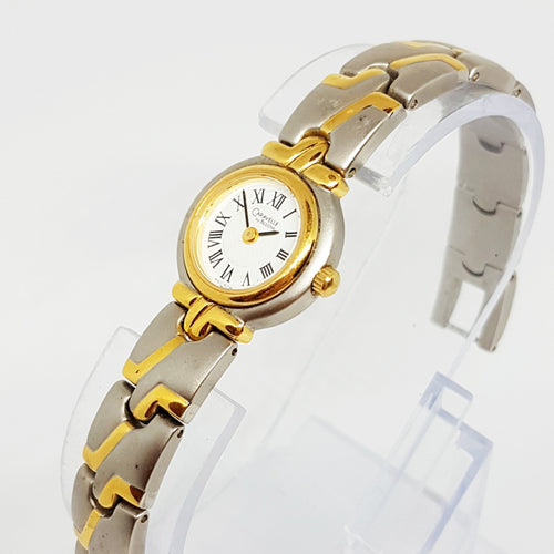 Tiny Two-tone Caravelle by Bulova Women's Watch | Elegant Luxury Wristwatches - Vintage Radar