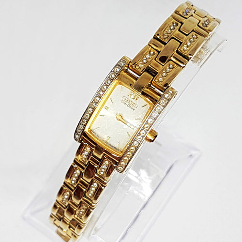 Small Ladies Citizen Eco-Drive G620 S028728 Watch | Gold Plated Watch - Vintage Radar