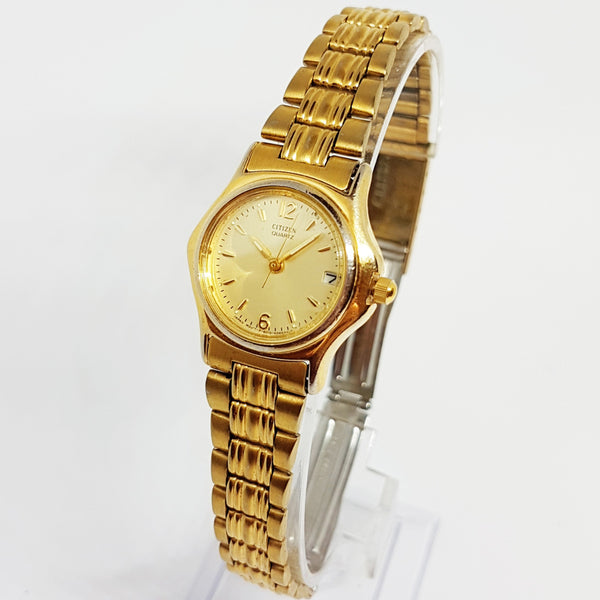 Vintage Ladies Citizen Watch | Gold-tone Quartz Citizen 6010 S42025 Watch - Vintage Radar