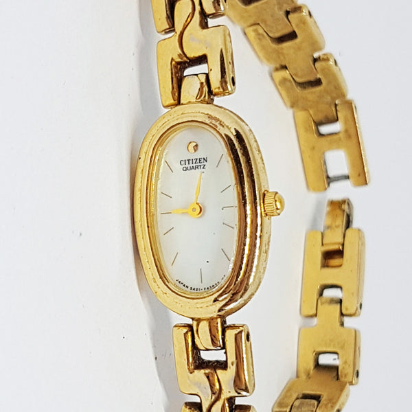 Gold Plated Citizen 5421 F42724 Watch | Tiny Dress Watch for Women - Vintage Radar