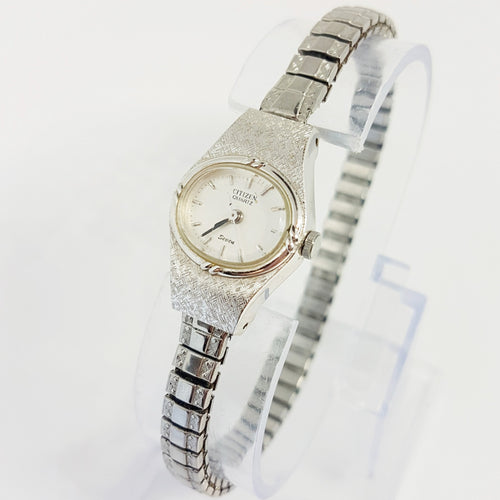 Silver-tone Womens Citizen Quartz Watch | Citizen 2030 202805 Watch - Vintage Radar