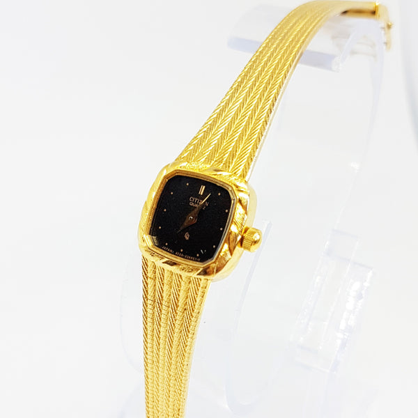 Luxury Citizen Watch for Women | Gold-Plated Art Deco Citizen 3220-322860 Watch - Vintage Radar