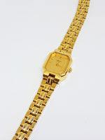 Tiny Gold-tone Caravelle Watch | 90s Bulova Quartz for Tiny Wrists - Vintage Radar