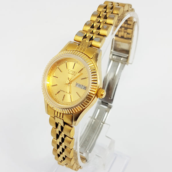 Gold Stainless Steel Citizen 600G-R00421 Watch | Rolex Homage Watch - Vintage Radar