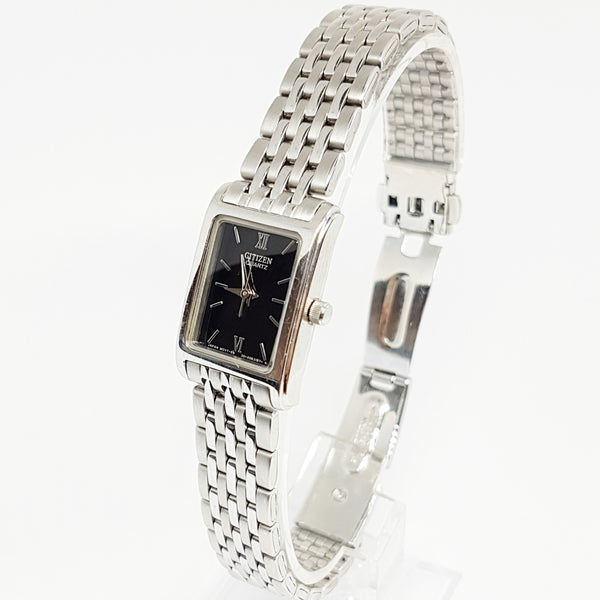 Silver-tone Tank Citizen Quartz Watch for Women | 5930-S038588 Citizen Watch - Vintage Radar