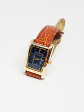 تحميل الصورة في عارض المعرض ، Blue Dial Helbros Quartz Watch | Elegant Gold-tone Helbros Watch - Vintage Radar