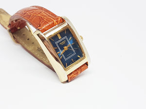 Blue Dial Helbros Quartz Watch | Elegant Gold-tone Helbros Watch - Vintage Radar