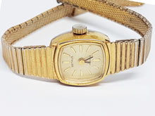 تحميل الصورة في عارض المعرض ، 17 Jewels Benrus Mechanical Watch | Women's Gold-tone Benrus Watch - Vintage Radar