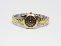 Black Dial Benrus Quartz Watch | Ladies Benrus Date Watch - Vintage Radar