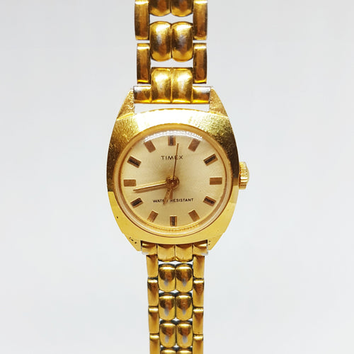 Art Nouveau Wedding Gold Jewelry for Women | Gold Plated 90s Timex Watch - Vintage Radar