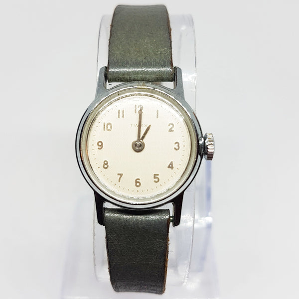 90s Leather Classic Ladies Timex Watch | 1990s Retro Timex Watch for Women - Vintage Radar