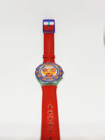 1993 Vintage Swatch Aquachrono计时码表SBG100手表Red Harbor