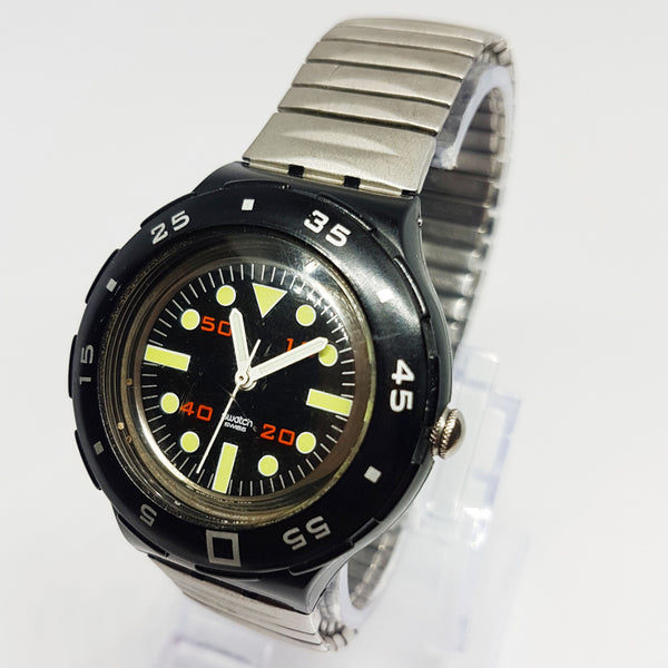 Vintage 1999 Black Swatch Scuba TUNE SHB107 Swiss Made Watch