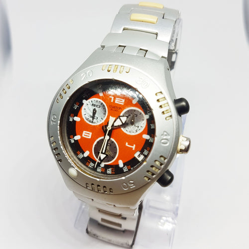 Rare SATSUMA Swatch Irony Scuba 200 Chrono YBS4006 Watch 2001