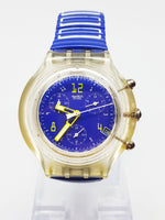 1996 Blue Yellow Swatch Chrono Submarine Table | Best 90 Swatch Chrono