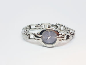 Navy Blue Dial Fossil Watch for Ladies | Silver-tone Fossil Quartz Watch - Vintage Radar