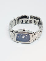 Solid Stainless Steel Fossil Watch for Ladies | Silver-tone Blue Dial Watch - Vintage Radar